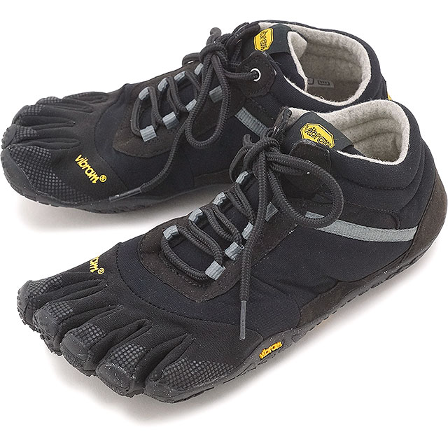 Five Vibram FiveFingers vibram five fingers men MEN TREK ASCENT INSULATED Black vibram five fingers finger shoes base up feet shoes [15M5302]