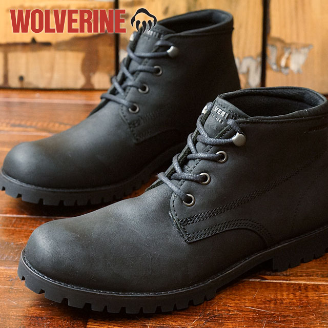 5197831ff2f Wolverine coat WOLVERINE Wolverine mens chukka boots CORT Black Leather  (W40242 FW16)