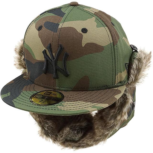 New era New York Yankees Trapper ire f wrap Cap NEWERA hats 59FIFTY NYY  TRAPPER CAP Woodland Camo   black (11322614 FW16) 5d141d3dfe8