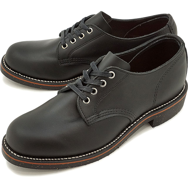 チペワ 4インチ サービス オックスフォード シューズ CHIPPEWA メンズ 革靴 4-inch service oxfords shoes Dワイズ ブラック (CP1901M73)【コンビニ受取対応商品】