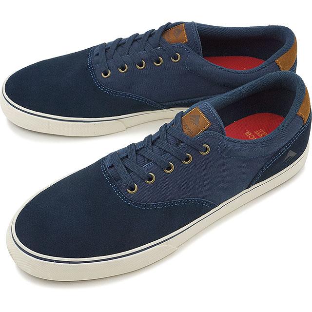 Emerica Provost slim varca EMERICA Skate Shoes Sneakers PROVOST SLIM VULC  navy / brown / white (HO16)