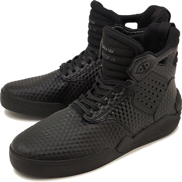 df858b3bb592 Surpra sky top 4 SUPRA skating shoes sneakers shoes SKYTOP IV black - black  (08156-001 FW16)