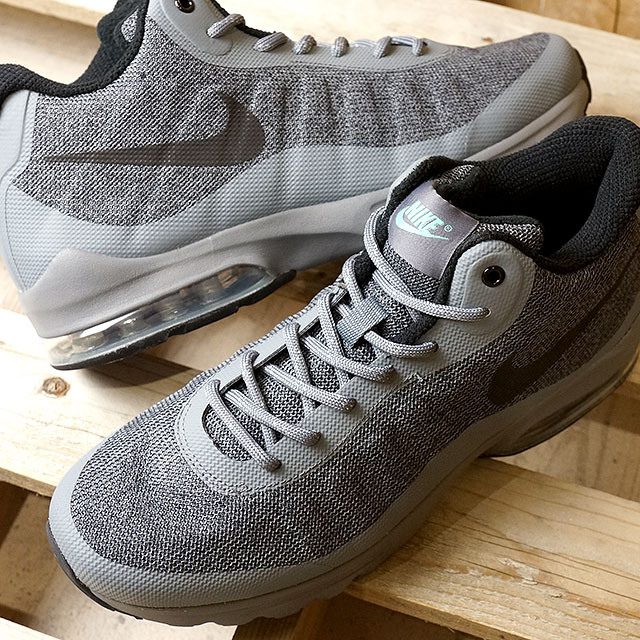 NIKE Nike sneakers AIR MAX INVIGOR MID Nike Air Max in bigger mid cool grey  / black / green glow (858654-001-HO16)