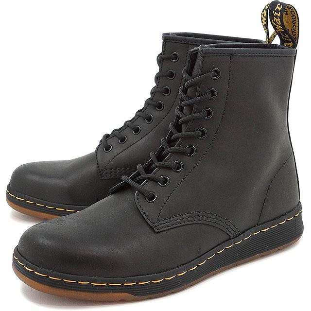 ドクターマーチン メンズ・レディース ブーツ Dr.Martens NEWTON 8-EYE BOOT ニュートン 8ホール BLACK 靴 [21856001]
