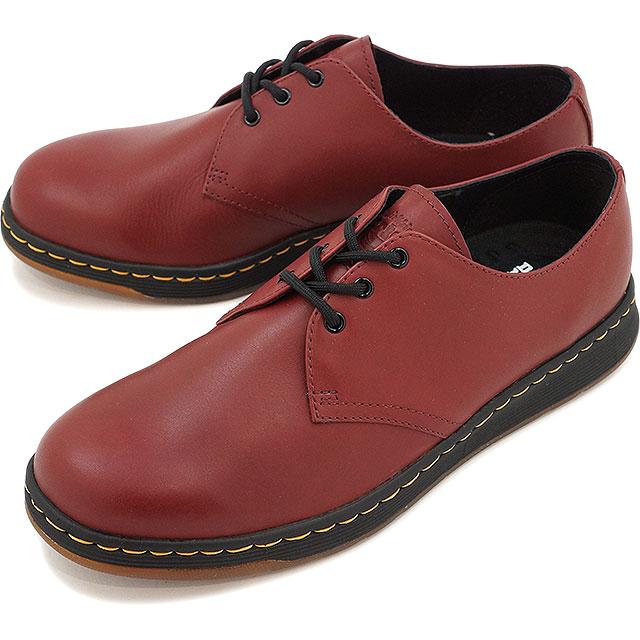 ドクターマーチン メンズ レディース ブーツ チャッカブーツ Dr.Martens CAVENDISH 3-EYE SHOE キャベンディッシュ 3ホール CHERRY RED 靴 (21859600)【コンビニ受取対応商品】
