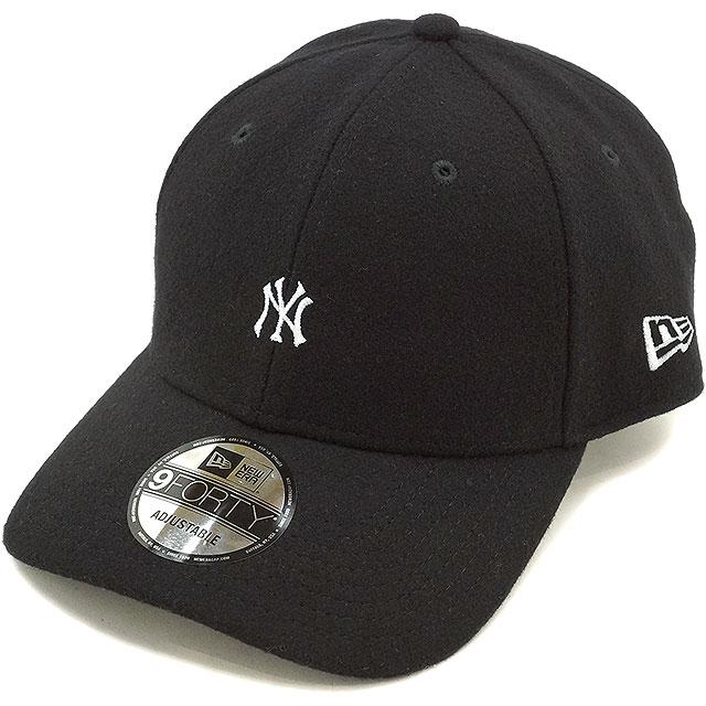 New era New York Yankees Melton Cap NEWERA hats 9 FORTY NYY MELTON CAP  black   snow white (11322544 FW16) 4c6cc9c2d00