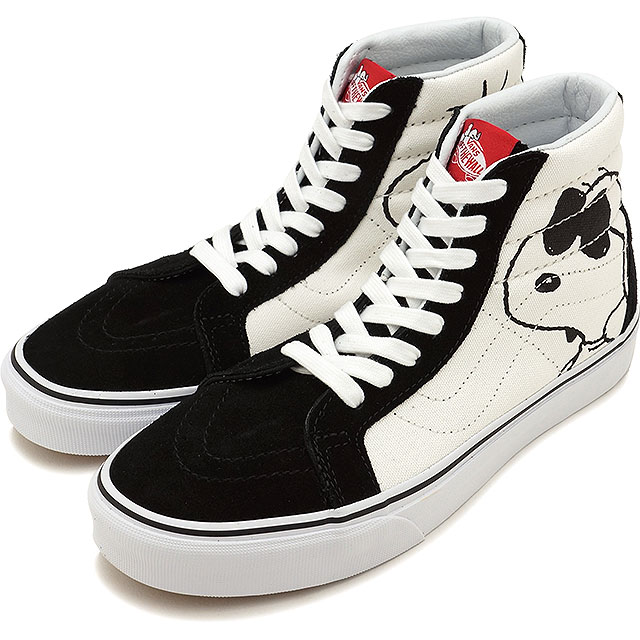 7aae0329a21db3 VANS vans sneakers shoes Lady s PANUTS peanut Snoopy Joey cool SK8-HI  REISSUE スケートハイリイシュースケハイ JOE COOL BLACK (VN0A2XSBOQU FW17)