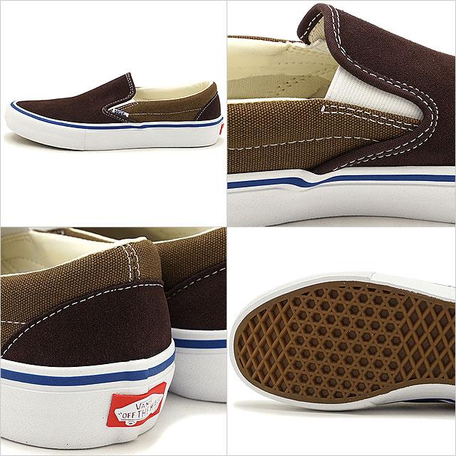 f6683f1fd3713b VANS vans sneakers shoes men PRO SKATE Pross Kate SLIP-ON PRO TWO-TONE  slip-on pro two ton slip-ons COFFEE BEAN TEAK (VN0A347VOJC FW17)