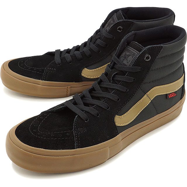 91035843f5 VANS X THRASHER vans slasher sneakers shoes men SK8-HI PRO skating high  professional (スケハイ) BLACK GUM skating shoes (VN0A347TOTF FW17)