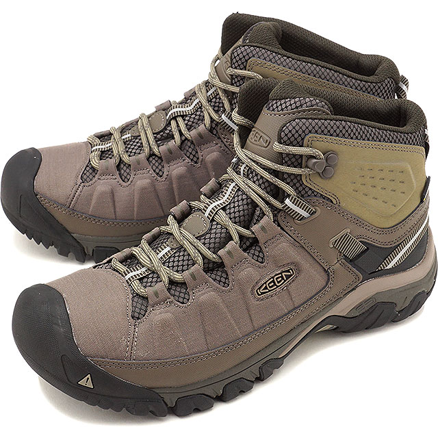 KEEN キーン トレッキングシューズ メンズ MENS Targhee EXP Mid WP ターギー イーエックスピー ミッド ウォータープルーフ Bungee Cord/Brindle 靴 [1017714 FW17]