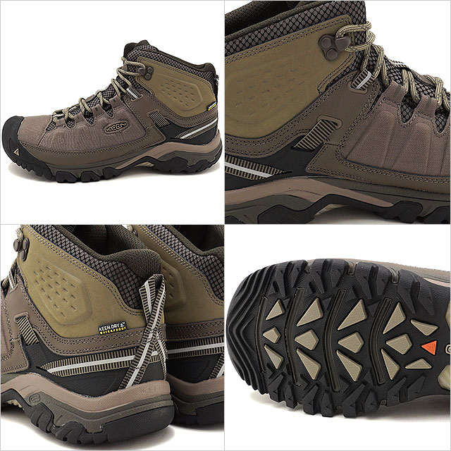 c95c1fd7520 KEEN Kean trekking shoes men MENS Targhee EXP Mid WP Targhee E X P mid  waterproof Bungee Cord/Brindle shoes (1017714 FW17)