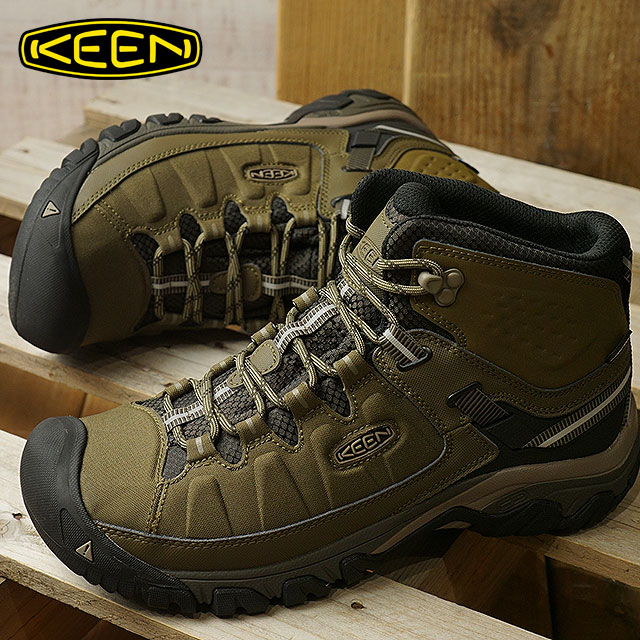 9741fcadba1d KEEN Kean trekking shoes men MENS Targhee EXP Mid WP Targhee E X P mid  waterproof Dark Olive Black Olive shoes (1017716 FW17)