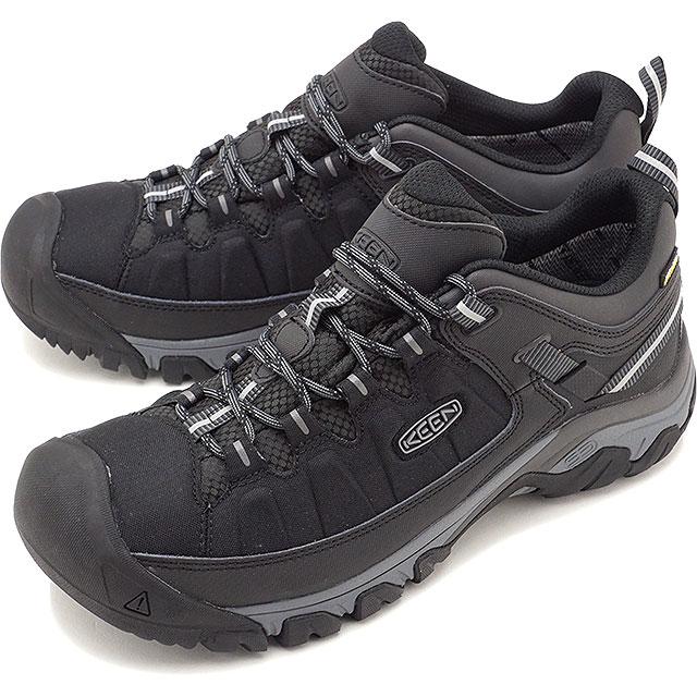 KEEN キーン トレッキングシューズ メンズ MENS Targhee EXP WP ターギー イーエックスピー ウォータープルーフ Black/Steel Grey 靴 [1017721 FW17]
