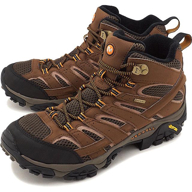 MERRELL メレル メンズ MENS MOAB 2 MID GORE-TEX モアブ2 ミッド ゴアテックス EARTH 靴 [06063 FW17]