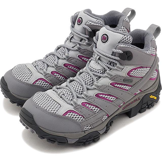 【即納】MERRELL メレル レディース WMNS MOAB 2 MID GORE-TEX モアブ2 ミッド ゴアテックス FROST GREY 靴 (06068 FW17)【コンビニ受取対応商品】