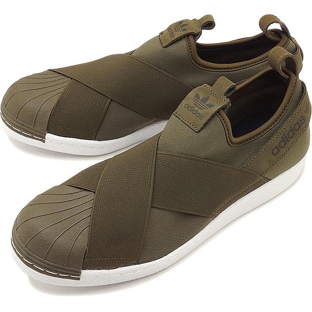hot sale online e59e6 f1dd1 adidas Adidas superstar SUPERSTAR SlipOn superstar slip-on slip-ons Adidas  originals adidas Originals T olive F17/T olive F17/R white shoes (BZ0114 ...