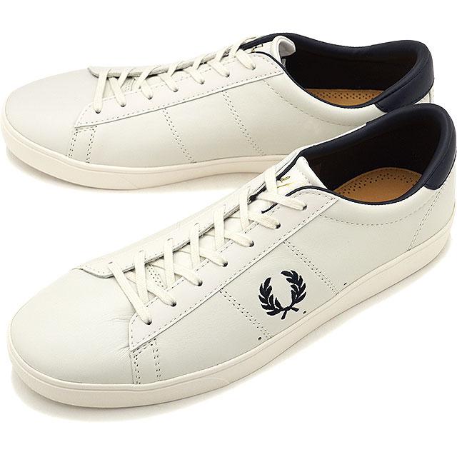 【即納】FRED PERRY フレッドペリー スニーカー 靴 メンズ・レディース SPENCER LEATHER スペンサー レザー PORCELAIN/NAVY [B7521U-254]