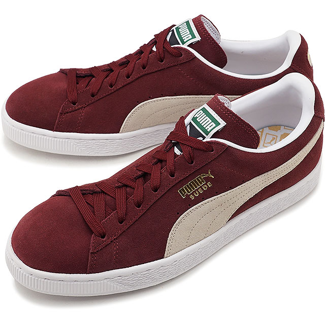aed7c9b8e799 PUMA Puma sneakers shoes men SUEDE CLASSIC suede cloth classic + cabernet    white (352