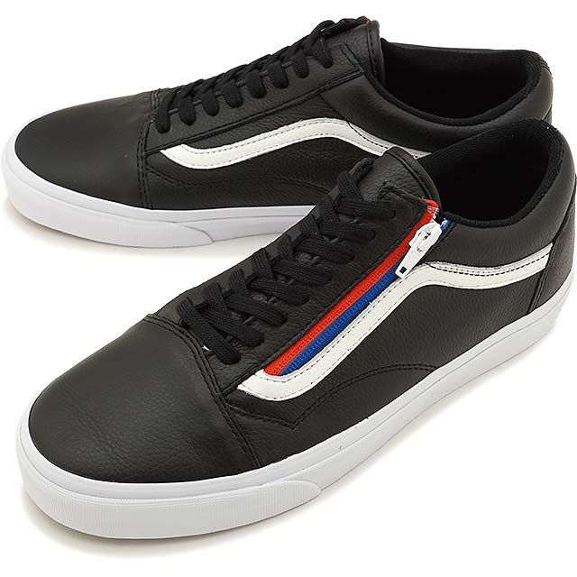 Vans old skool ZIP first layer of leather red and blue side