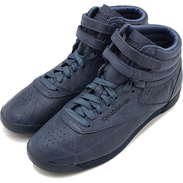 Reebok CLASSIC Reebok classical music sneakers shoes Lady s F S HI FBT (FREE  STYLE) free-style high FBT SMOKY INDIGO (BS6281 FW17) ca49a5b5e