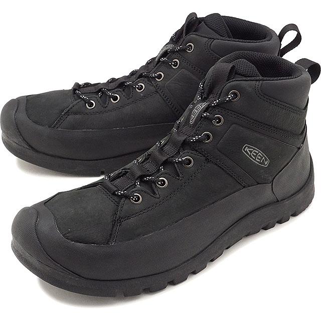 【即納】KEEN キーン トレッキングシューズ メンズ MENS Citizen KEEN LTD WP シティズン キーン リミテッド ウォータープルーフ Black 靴 [1015140 FW17]