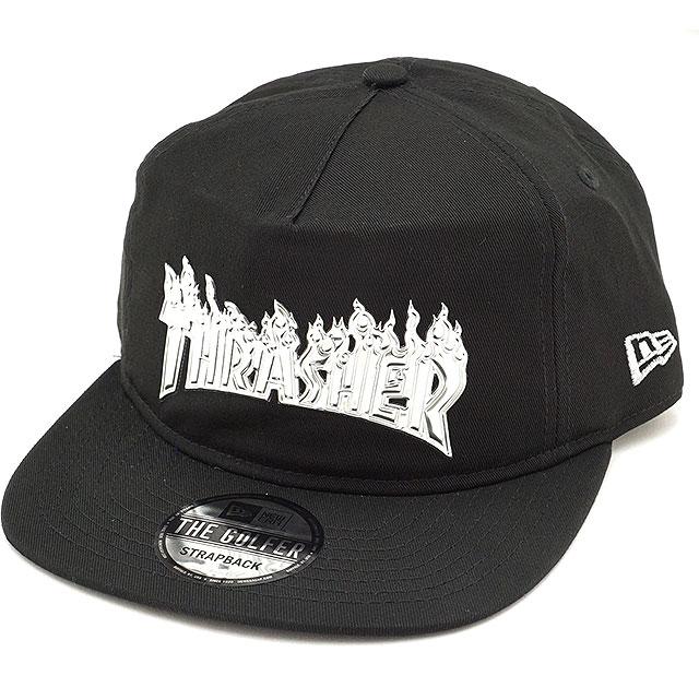 NEWERA new gills cap New Era The Golfer Thrasher slasher cross strap  snapback baseball cap hat black  M aluminum (11474519 FW17) b91692650b9