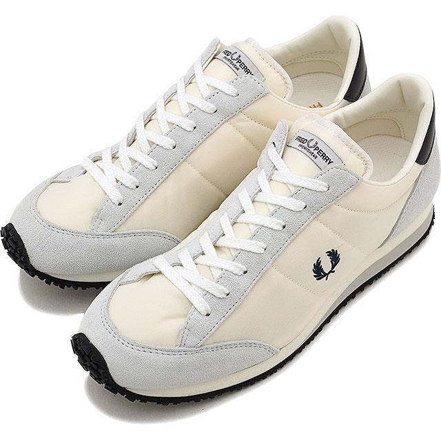 【即納】FRED PERRY フレッドペリー 日本製 スニーカー 靴 レディース VINSON NYLON ヴィンソン ナイロン WHITE (F29614-10 FW17)【コンビニ受取対応商品】