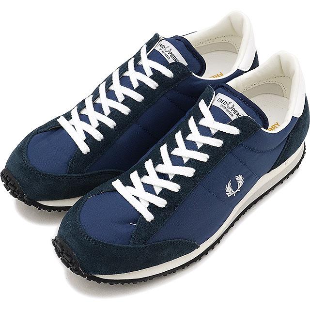 【即納】FRED PERRY フレッドペリー 日本製 スニーカー 靴 レディース VINSON NYLON ヴィンソン ナイロン NAVY [F29614-01]