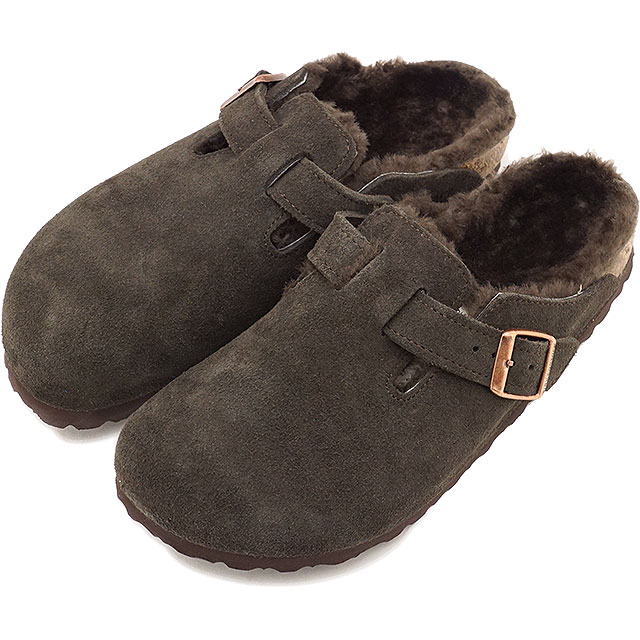 327104968b20 BIRKENSTOCK ビルケンシュトックサンダル shoes Lady s BOSTON SUEDE LEATHER SHEEPSKIN Boston  suede leather   sheepskin MOCHA (GC1006409 FW17)