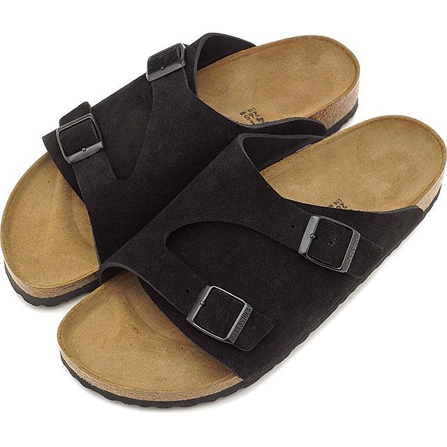 BIRKENSTOCK ビルケンシュトック サンダル 靴 メンズ・レディース ZURICH SUEDE LEATHER チューリッヒ スエードレザー BLACK (GC050493 FW17)【コンビニ受取対応商品】