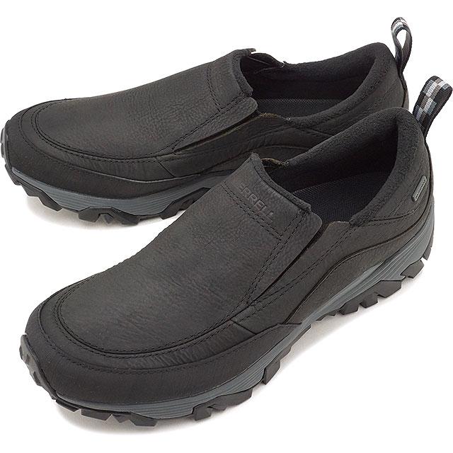 MERRELL メレル メンズ MENS COLDPACK ICE+ MOC WATERPROOF コールドパック アイスプラス モック ウォータープルーフ BLACK 靴 (49819 FW17)【コンビニ受取対応商品】