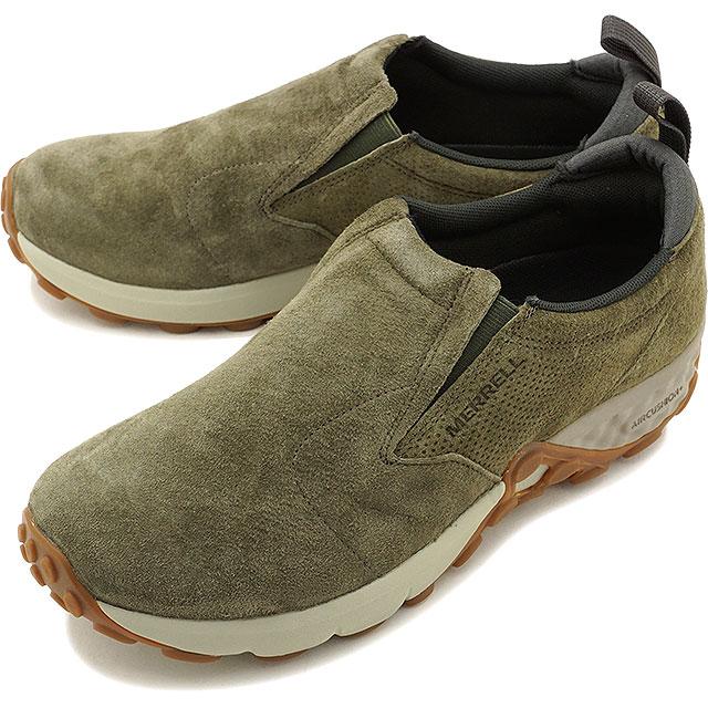 【即納】MERRELL メレル メンズ MENS JUNGLE MOC AC+ ジャングルモック エアークッションプラス DUSTY OLIVE 靴 (91705 FW17)【e】【コンビニ受取対応商品】