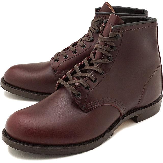 【返品サイズ交換可】【限定店モデル】REDWING レッドウィング ワークブーツ Dワイズ BECKMAN BOOTS FLAT BOX ベックマン・ブーツ フラット・ボックス BLACK CHERRY FEATHERSTONE 靴 (9062 FW17)【コンビニ受取対応商品】