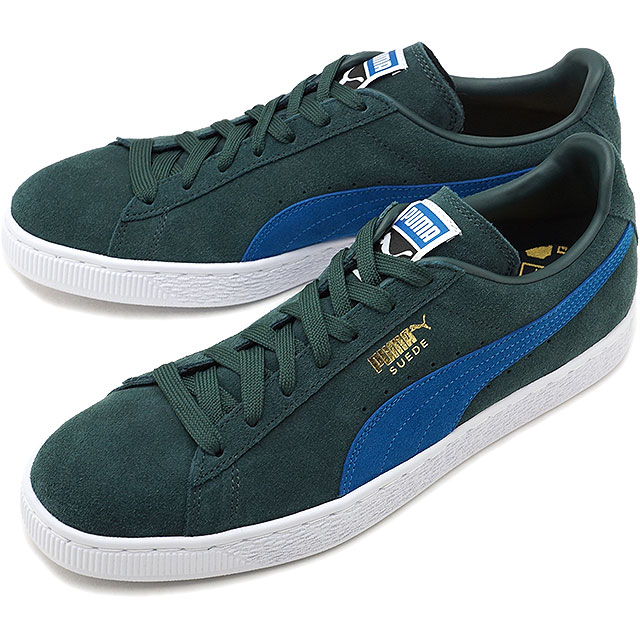 PUMA Puma suede sneakers shoes men SUEDE CLASSIC + suede cloth classic  positive green G M blue (363 354cf5cf2