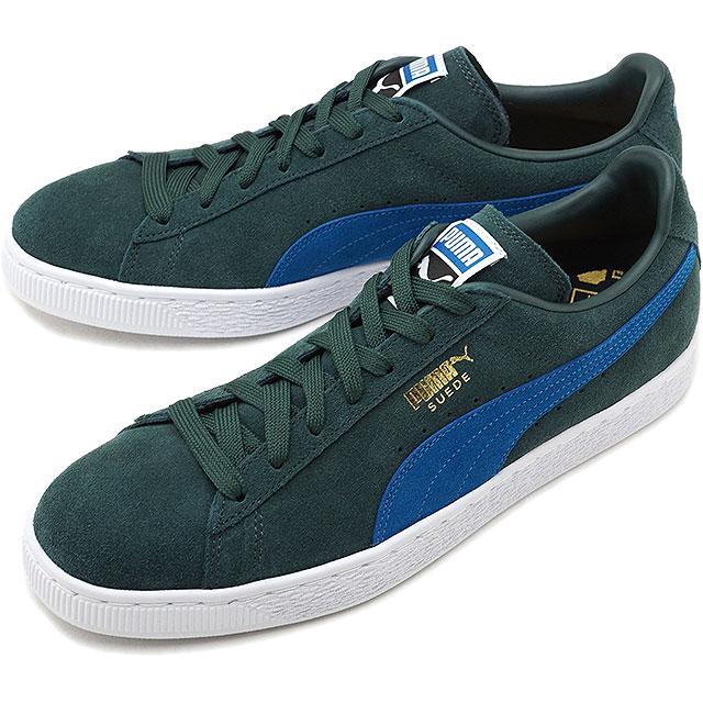 sports shoes 2b062 b901e PUMA Puma suede sneakers shoes men SUEDE CLASSIC + suede cloth classic  positive green G/M blue (363,242-30 HO17)