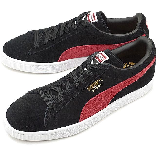 PUMA Puma suede sneakers shoes men SUEDE CLASSIC + suede cloth classic positive black C red (363,242 31 HO17)
