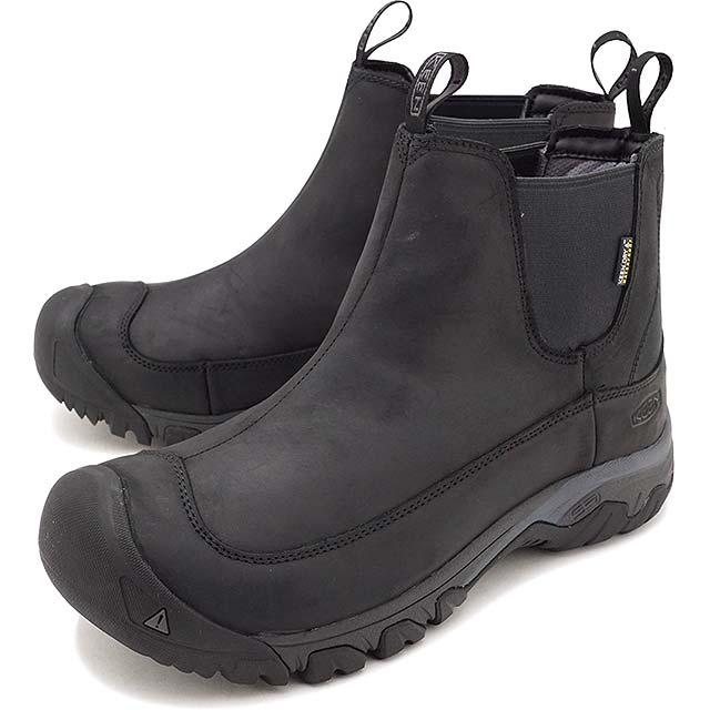 【即納】KEEN キーン サイドゴアブーツ メンズ MENS Anchorage Boot III WP アンカレッジ ブーツ スリー ウォータープルーフ Black/Raven 靴 (1017789 FW17)【コンビニ受取対応商品】