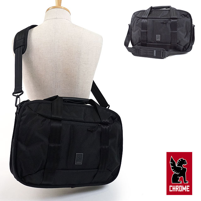 【即納】CHROME クローム 3WAYビジネスバッグ 15L ブリーフケース バックパック キャリーバッグ VEGA ベガ ALL BLACK [BG-229 FW17]