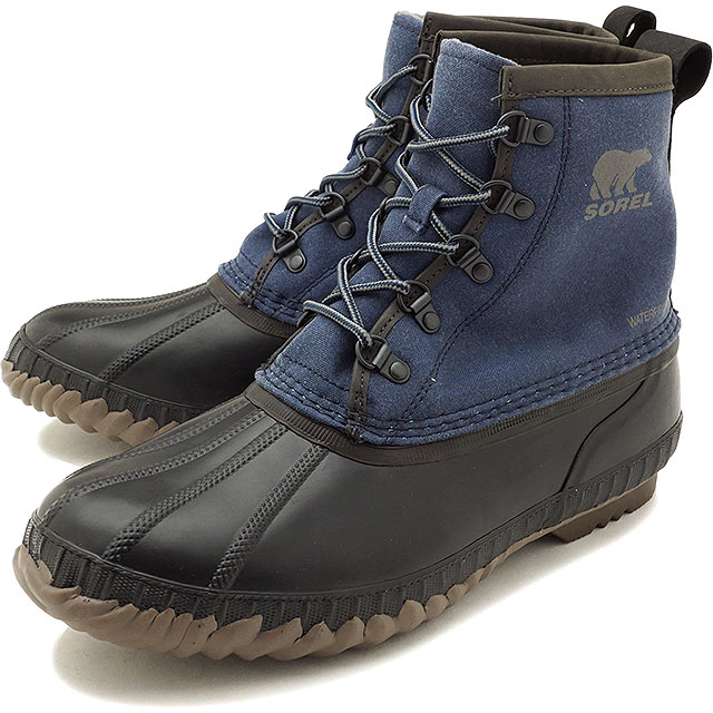 d3d2565e5e997e SOREL Sorrel snow boot men CHEYANNE II SHORT Cheyenne 2 short C.NAVY QUARRY  shoes (NM2605-464 FW17)
