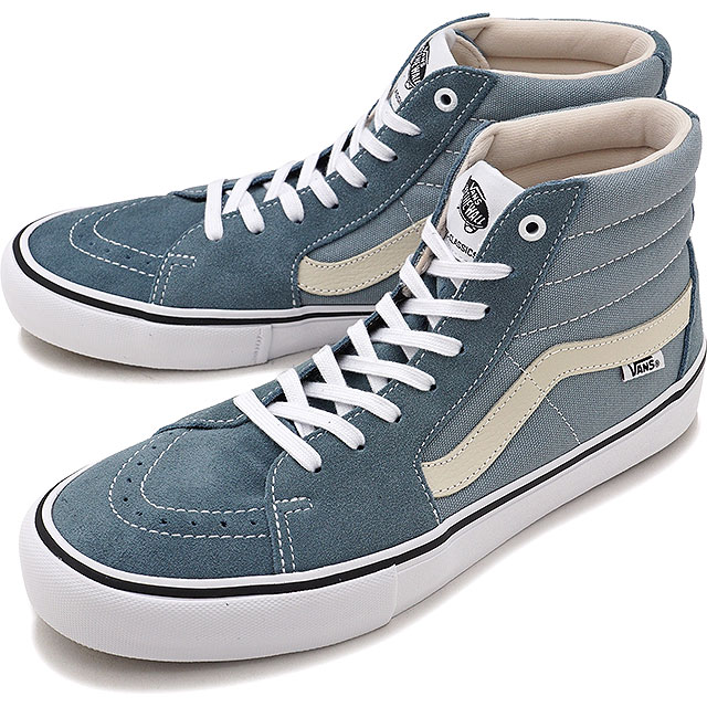 VANS vans sneakers shoes men PRO SKATE Pross Kate SK8-HI PRO skating high  professional (スケハイ) GOBLIN BLUE WHITE (VN0A347TQNX FW17) 80b644792