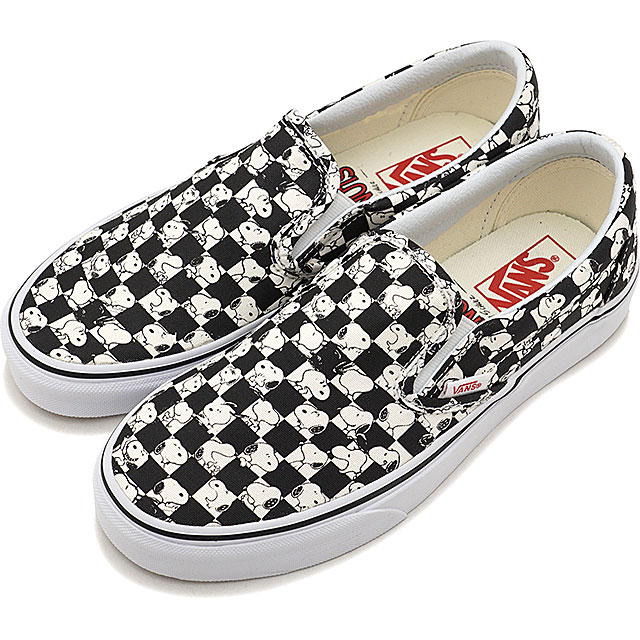 2d62834d7c VANS PEANUTS vans peanut sneakers shoes Lady s CLASSIC SLIP-ON Snoopy  classical music slip-on (slip-ons) SNOOPY CHECKERBOARD (VN0A38F7QQO FW17)