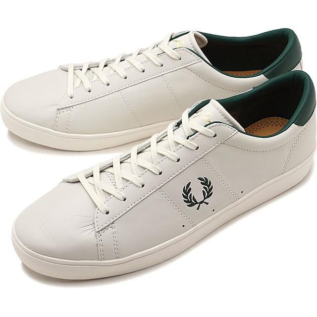 FRED PERRY フレッドペリー スニーカー 靴 メンズ・レディース SPENCER LEATHER スペンサー レザー PORCELAIN/IVY GREEN [B8221-254]