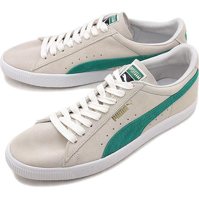 【即納】PUMA プーマ SUEDE 90681 スエード W.WHITE/G.FLASU/P.WHITE メンズ スニーカー 靴 (365942-06 FW18)【コンビニ受取対応商品】