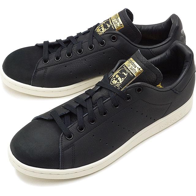 buy online cd2fa e5337 adidas Originals Adidas originals Stan Smith Premium Stan Smith premium men  sneakers shoes C black /C black / goal domet [B37901 FW18]