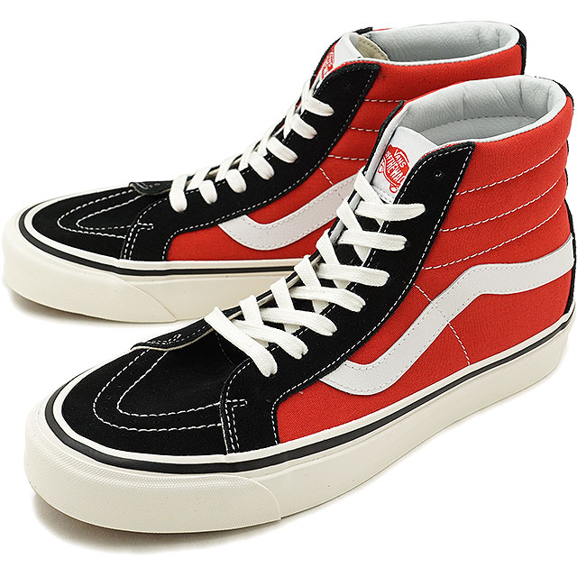 47358afdf16408 VANS station wagons ANAHEIM FACTORY Anaheim factory SK8-HI 38 DX skating high  38 DX スケハイバンズスニーカー shoes OG BLACK OG RED (VN0A38GFUBS FW18)