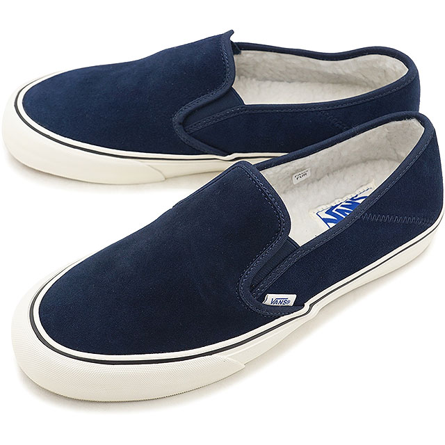 VANS station wagons boa lining SLIP-ON SF slip-on surf slip-ons vans  sneakers shoes FLEECE DRESS BLUES/MARSHMALLOW (VN0A3MVDUD4 FW18)