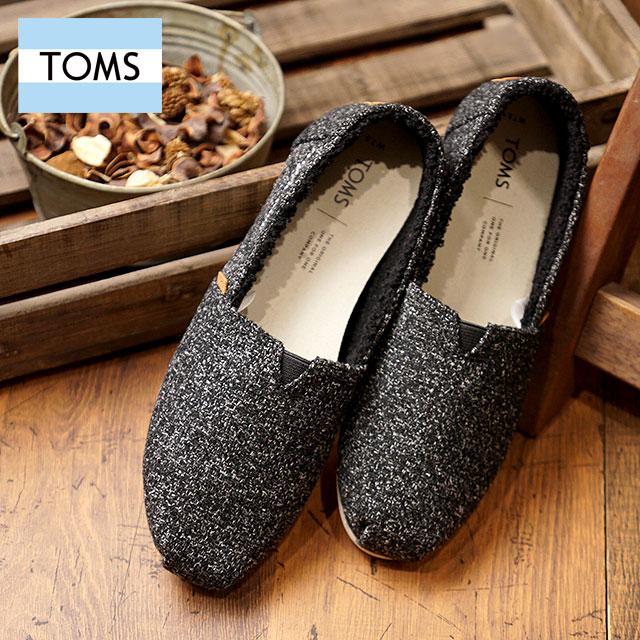 完売 TOMS SHOES トムス シューズ レディース CLASSICS クラシックス ボアライニング スリッポン トムズ Felt Faux Shearling 靴10012634 FW185ALq4cS3Rj