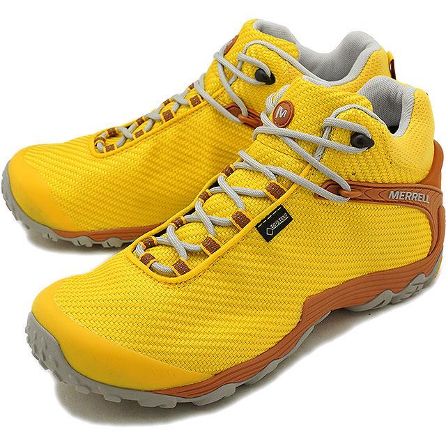 【即納】メレル MERRELL メンズ カメレオン7 ストーム ミッド ゴアテックス M CHAMELEON7 STORM MID GORE-TEX 完全防水 アウトドア トレッキングシューズ 靴 DANDELION [38563 FW18]