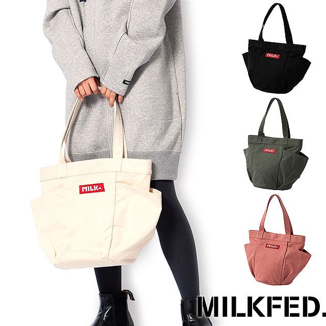Mischief ミルクフェド Milkfed Multi Pocket Canvas Tote Bag Multi
