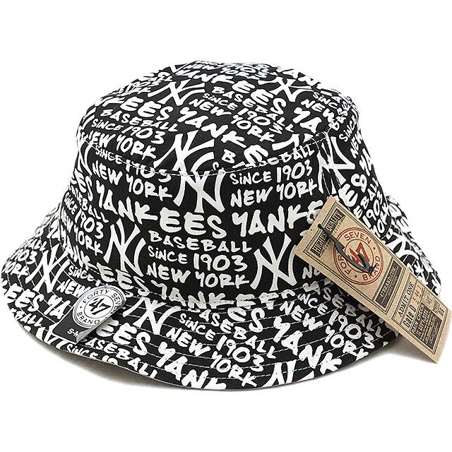 Forty seven Yankees  47 flatcap pail Yankees  47 Fat Cap Bucket hat men gap  Dis White (FATBT17GWF FW18) f35e2a2853a47